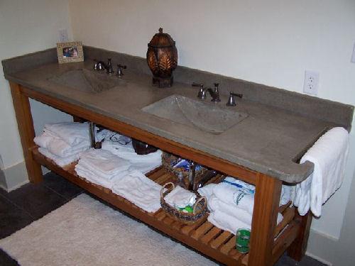 For. Bathroom Vanities by Crane Concrete Counters
