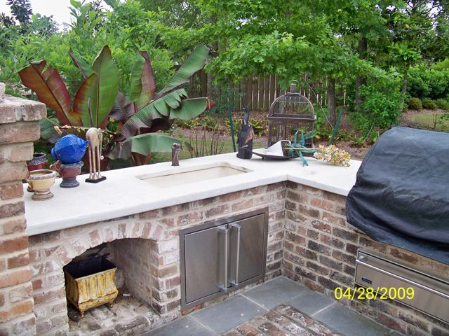 outdoor kitchens by crane concrete counters